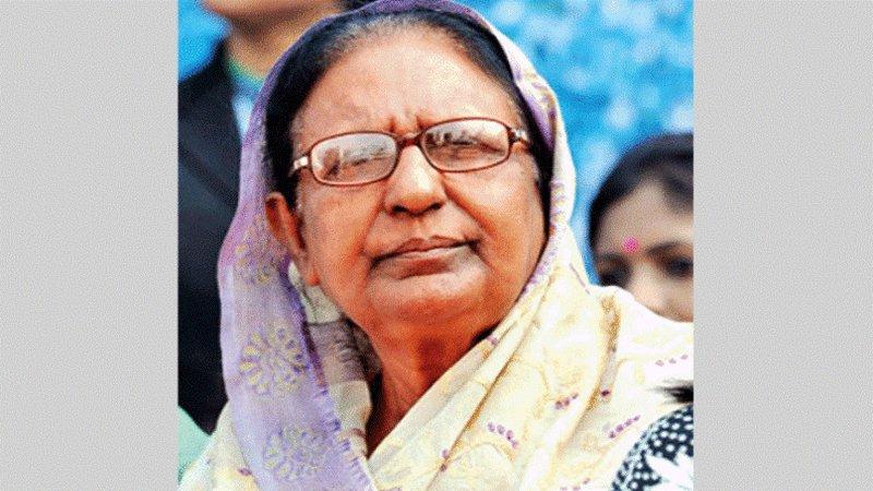 Former Bangladesh home minister Sahara Khatun MP dies